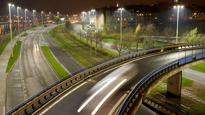 Sustainable street lighting design in the Polish city of Szczecin