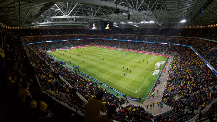 Friends Arena stadium effectively lit with Philips lighting for sport fields