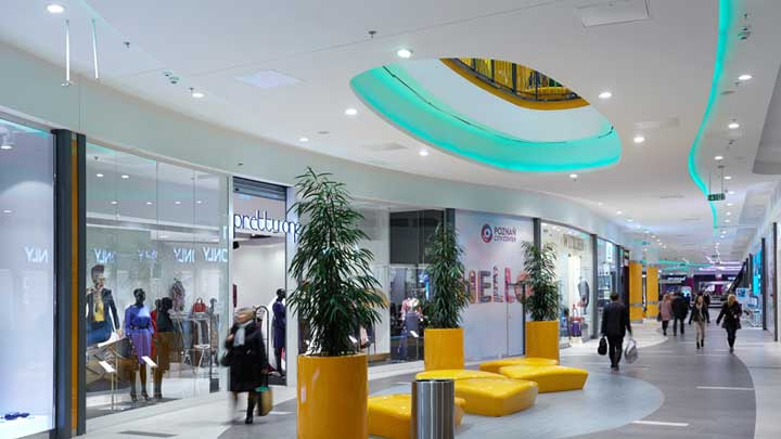 Poznań City Center - Poznan, Poland , shopping mall lighting, Philips Lighting-3