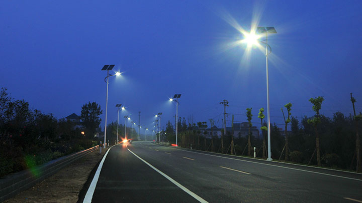 Solar powered street lighting