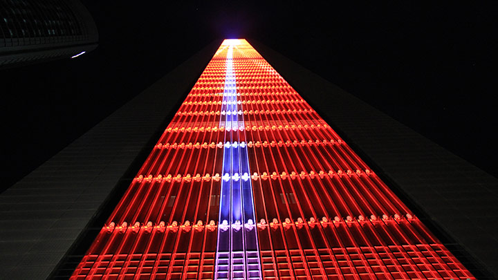 CEPSA Tower Madrid in lights