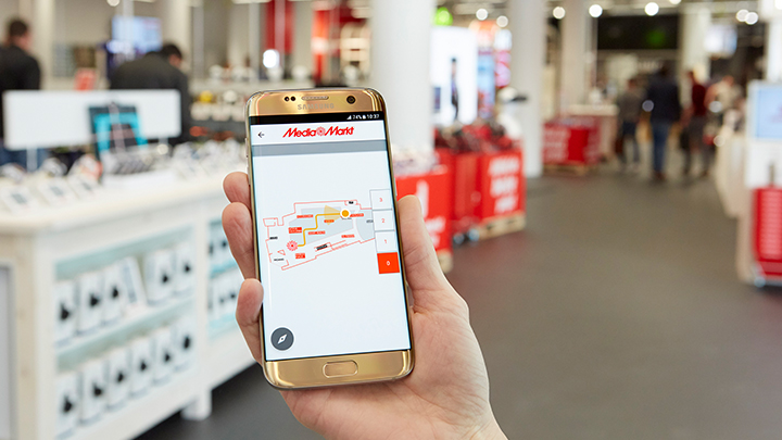 Indoor positioning at Media Markt