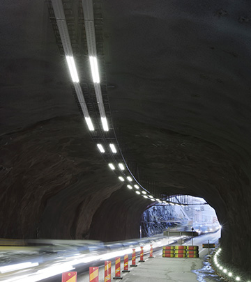 Renovating the Tomteboda tunnel with a networked lighting control system